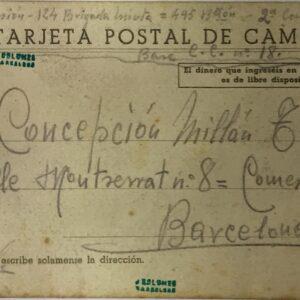 Tarjeta Postal de campaña, Guerra Civil