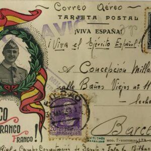 Tarjeta Postal, Guerra Civil Española