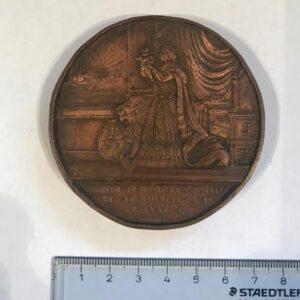 ISABEL II. Medalla Nacimiento Príncipe Alfonso. 1857. BARCELONA