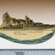 Cromo Troquelado Ejercito Popular Crucero Libertad