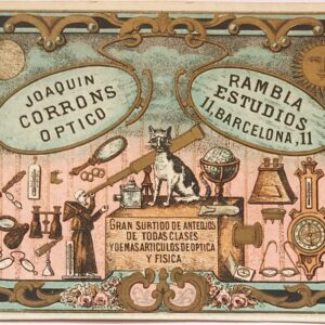 Tarjeta Joaquin Corrons Optico Circa 1880