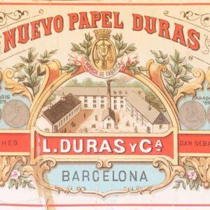 Papel de fumar Duras 1885 calendario