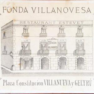 Postal Vilanova i la geltrú Fonda Villanovesa