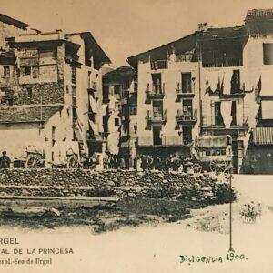 Postal Seu d'Urgell Portal de la Princesa