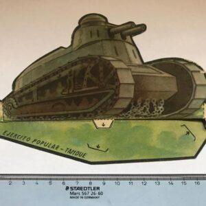 Cromo Troquelado Ejercito Popular Tanque